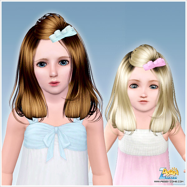 Mini Bow Hairstyle ID 768 by Peggy Zone for Sims 3