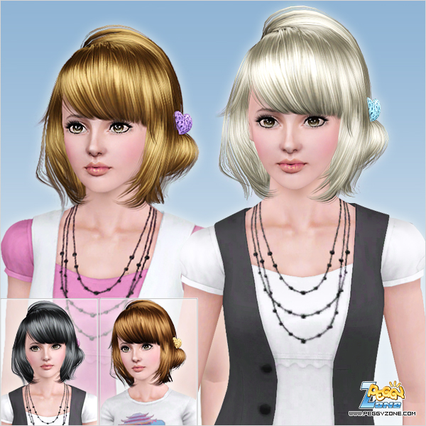 Love is colorful hairstyle ID 775 by Peggy Zone for Sims 3