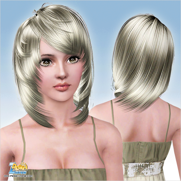 Layered framing the face hairstyle ID 735 by Peggy Zone - Sims 3 Hairs