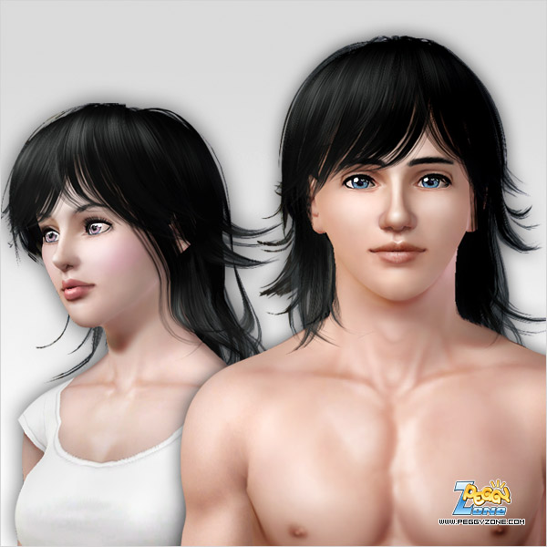 Special layered haircut ID 000001 By Peggy Zone for Sims 3