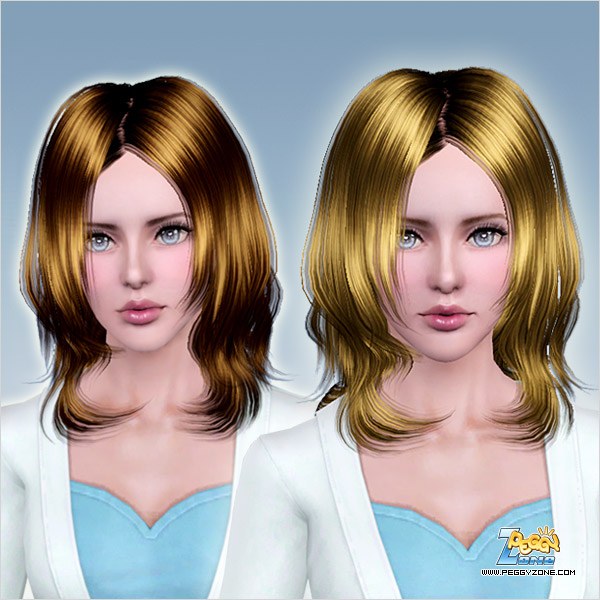 Bright and fringed hairstyle ID 737 by Peggy Zone for Sims 3