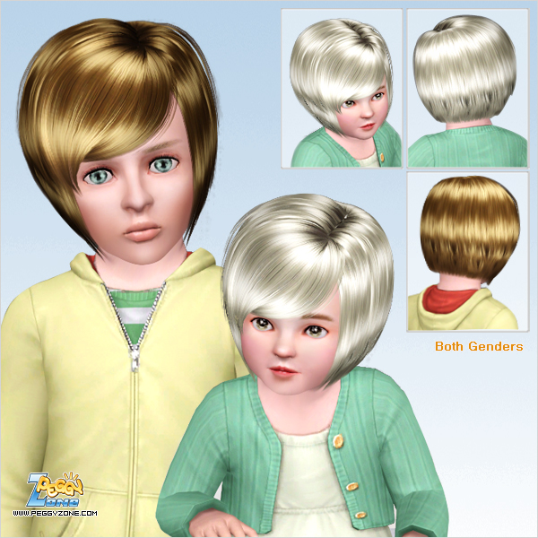 Glossy bob with bangs haircut ID 502 by Peggy Zone for Sims 3