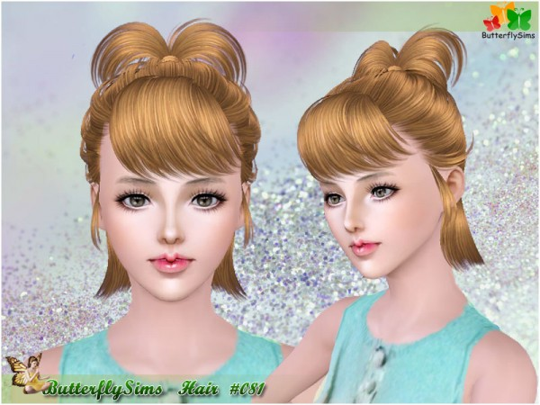 Top pigtail hairstyle 081 by YOYO at Butterfly for Sims 3
