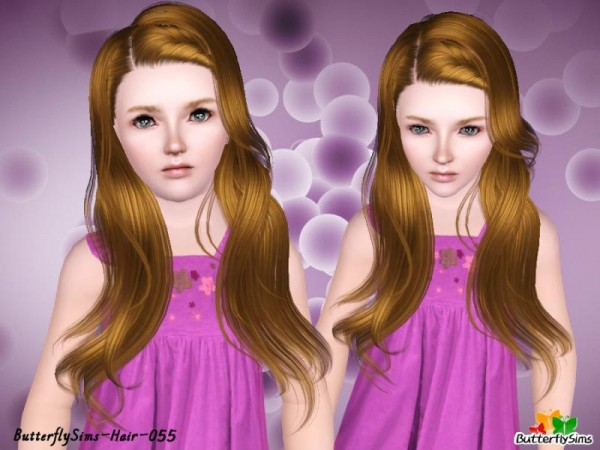 Bombshell Locks hairstyle   hair 55 by Butterfly for Sims 3