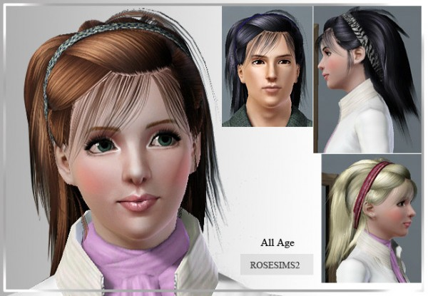 Nice headband hairstyle D 10 by Rose for Sims 3