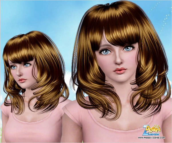 Framing hair and bunched curls ID 505 by Peggy Zone for Sims 3