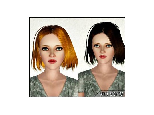 Fringed edges bob   alex m3 5032013 by XM Sims for Sims 3
