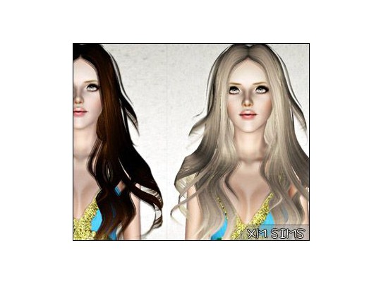 Dimensional waves hairstyle   alex m3 07042013 by XM Sims for Sims 3