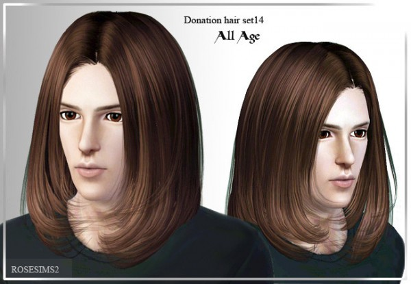 Below the chin hairstyle for boys D 14 by Rose for Sims 3