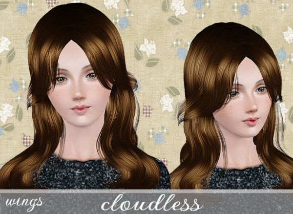 Special bangs hairstyle   cloudless by Wings for Sims 3