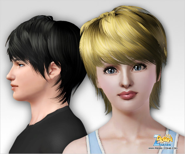 Cropped haircut  ID 72 by Peggy Zone for Sims 3
