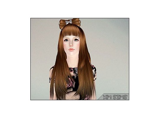 Bow hair   alex m3 09052013 by XM Sims for Sims 3