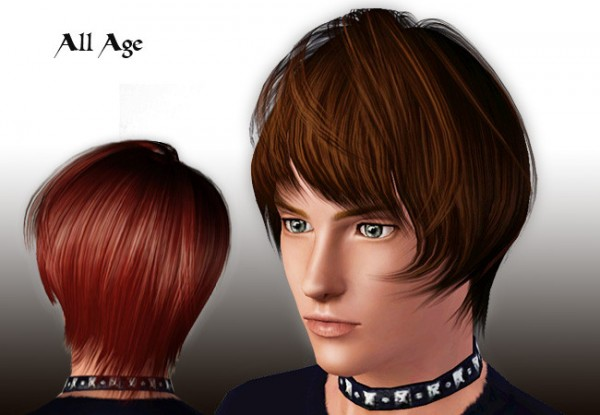 Cropped hairstyle for boys D 16 by Rose for Sims 3