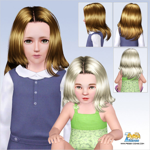 Middle parth with fringed edges hairstyle ID 640 by Peggy Zone for Sims 3