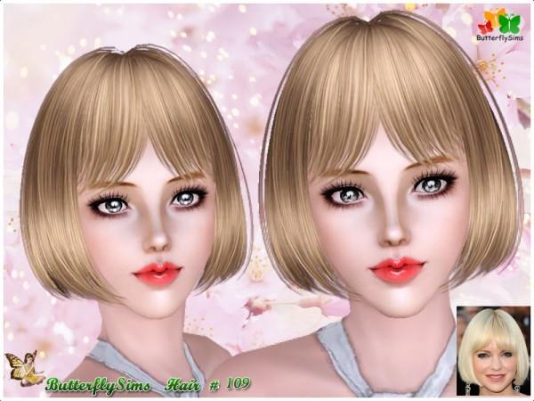 Short Bangs Bob Hair 109 By Yoyo At Butterfly Sims 3 Hairs