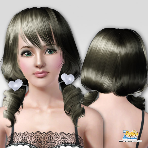 Love hairstyle ID 000002 by Peggy Zone for Sims 3