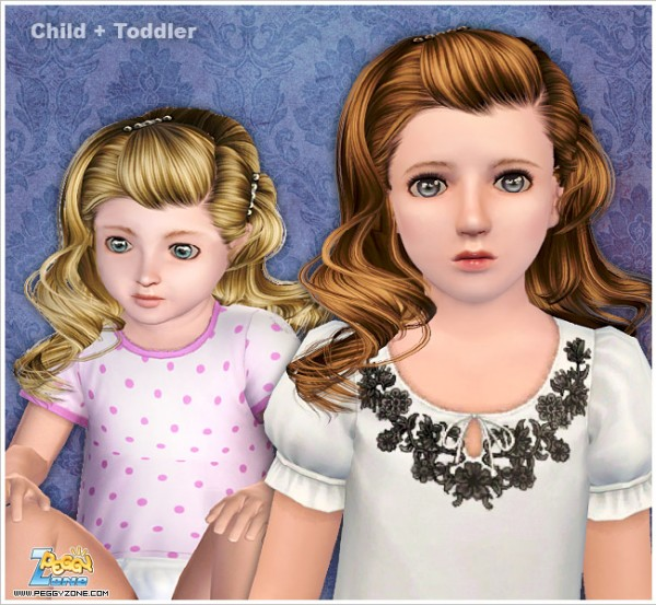 Cool hair with clips ID 000065 by Peggy Zone for Sims 3
