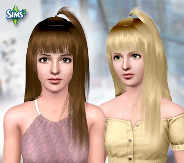 Top pigtail hairstyle  Hair 08 by Raonjena for Sims 3