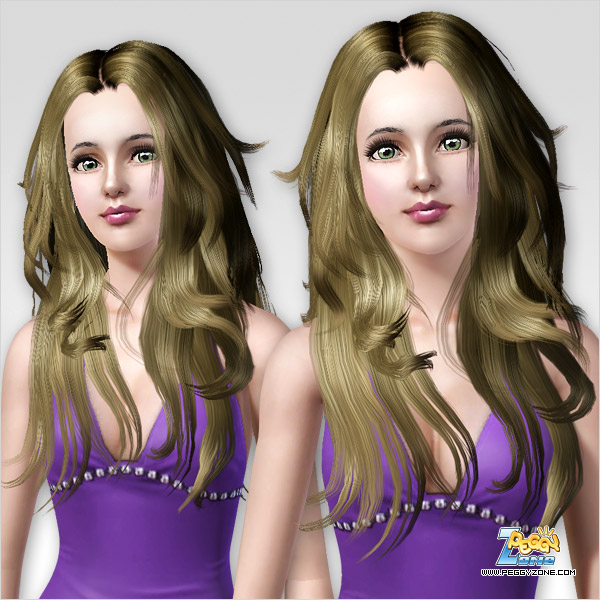 Feminine hairstyle ID 114 by Peggy Zone for Sims 3