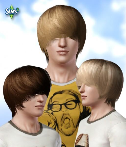 Long bangs hairstyle   Hair 09 by Raonjena for Sims 3
