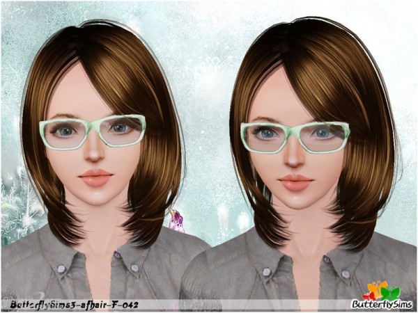 Below the chin hairstyle   Hair 42 by Butterfly for Sims 3