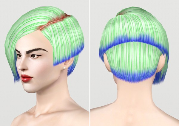 Asymmetrical bob   Flock of Evils by Store Retextured by Rusty Nail for Sims 3