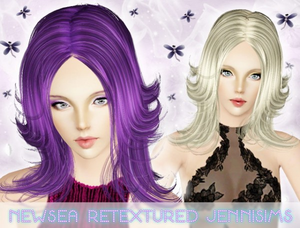 Modern layered hairstyle   Newsea Hair Evonne Retextured by Jenni Sims for Sims 3