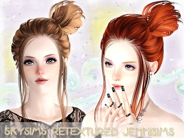 soccer hairstyles for girls : ... topknot hairstyle SkySims 104 retextured by Jenni Sims - Sims 3 Hairs