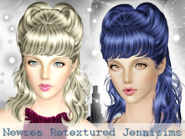 Horny hairstyle   Newsea Hair Hedonism retextured by JenniSims for Sims 3