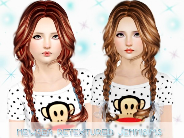 Stupendous Double Braid Hairstyle Newsea Clover Retextured By Jenni Sims Short Hairstyles For Black Women Fulllsitofus