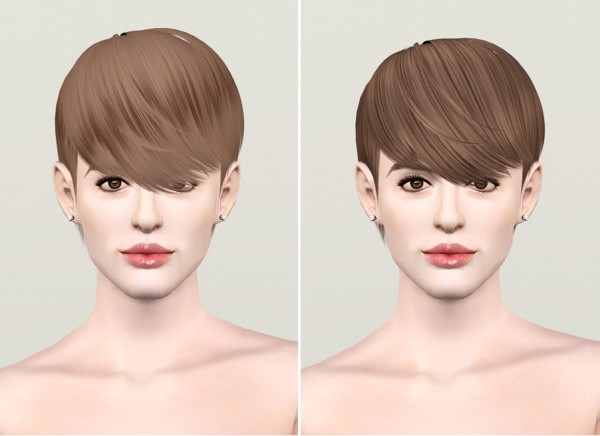 Smooth and straight hair for boys – Hair 16 by Raonjena retextured by Rusty Nail for Sims 3