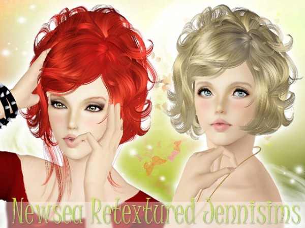 Curly bob hairstyle   Newsea Hair Masquerade  for Sims 3