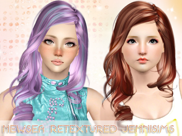 Tapered ends hairstyle   Newsea Hair More Than Honey Retextured by Jenni Sims for Sims 3