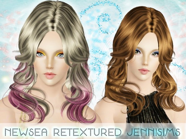 Middle parth wavy hairstyle   Newsea Hair Dashed  for Sims 3