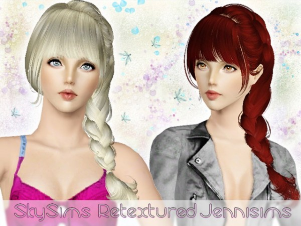 Tremendous Side Braid With Bangs Hairstyle Skysims Hair 057 Retexture By Short Hairstyles For Black Women Fulllsitofus