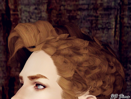 Curly hairstyle   The Lindy Hop edited by JS Sims 3 for Sims 3