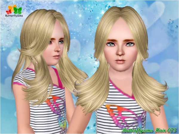 Dimensional layers hairstyle   hair 075 by Butterfly for Sims 3