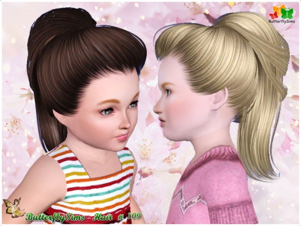 Modern ponytail    Hair 114 by Yoyo for Sims 3