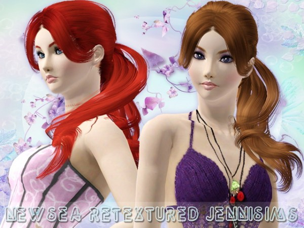 Disheveled ponytail hairstyle   Newsea Liela Hair retextured by JenniSims for Sims 3