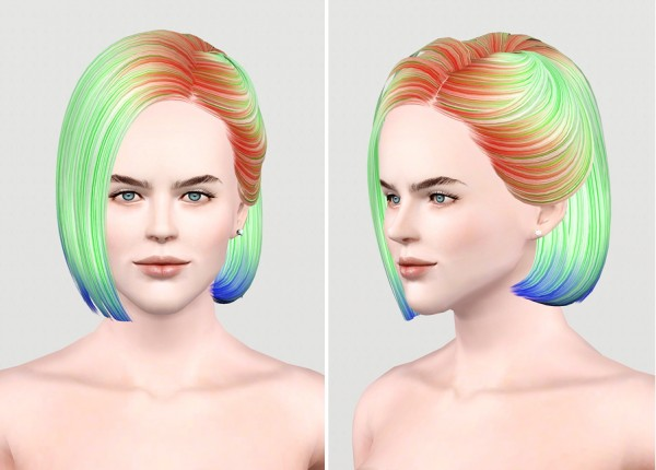 Vintage bob hairstyle   Butterfly Sims Hair 100 retextured by Rusty Nail for Sims 3