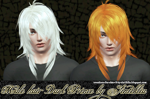 Layered hair with jagged edges   Dark Prince by Sintiklia for Sims 3