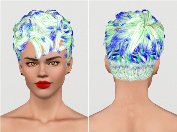 Tomboy hairstyle   Store hair retextured by Rusty Nail for Sims 3
