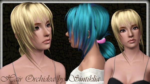 Crazy chignon hairstyle   Orchidea hair by Sintiklia for Sims 3