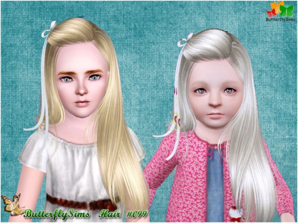 Bangs hair clip caught 099 by Butterfly for Sims 3