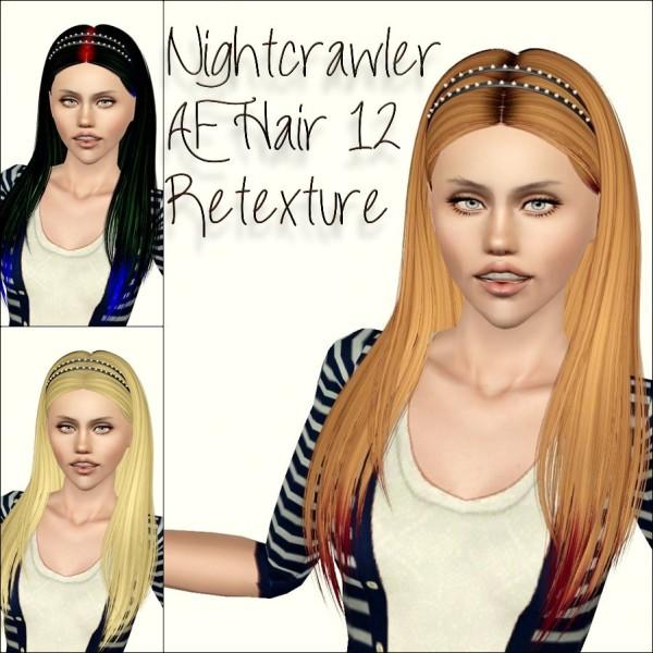 Gemstones headband hairstyle   Nightcrawler 12 retextured by Phantasia for Sims 3