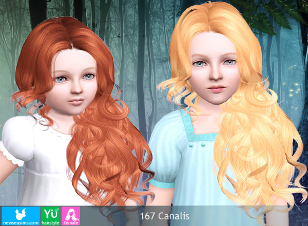 Huge waves hairstyle J167 Canalis by NewSea for Sims 3
