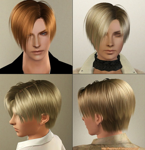 medium lenght hairstyle 4 Leon by Lapiz`s Scrapyard for Sims 3