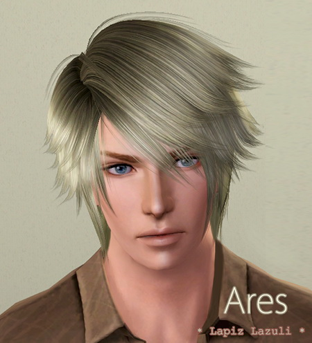 Neil hairstyle 3   Ares by Lapiz`s Scrapyard  for Sims 3