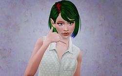 Headband bob hairstyle   Newsea's Sweet Scar retextured by Beaverhausen for Sims 3