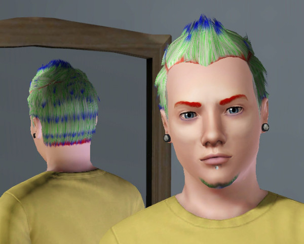 Thorny hairstyle for bys Faux Hawk with Widows Peak by omegastarr82 at Mod The Sims for ... - 133-600x481